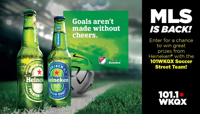 11/01/20 – Join WKQX and Heineken at the MLS is Back! Soccer Series at Spirits Beverage Center