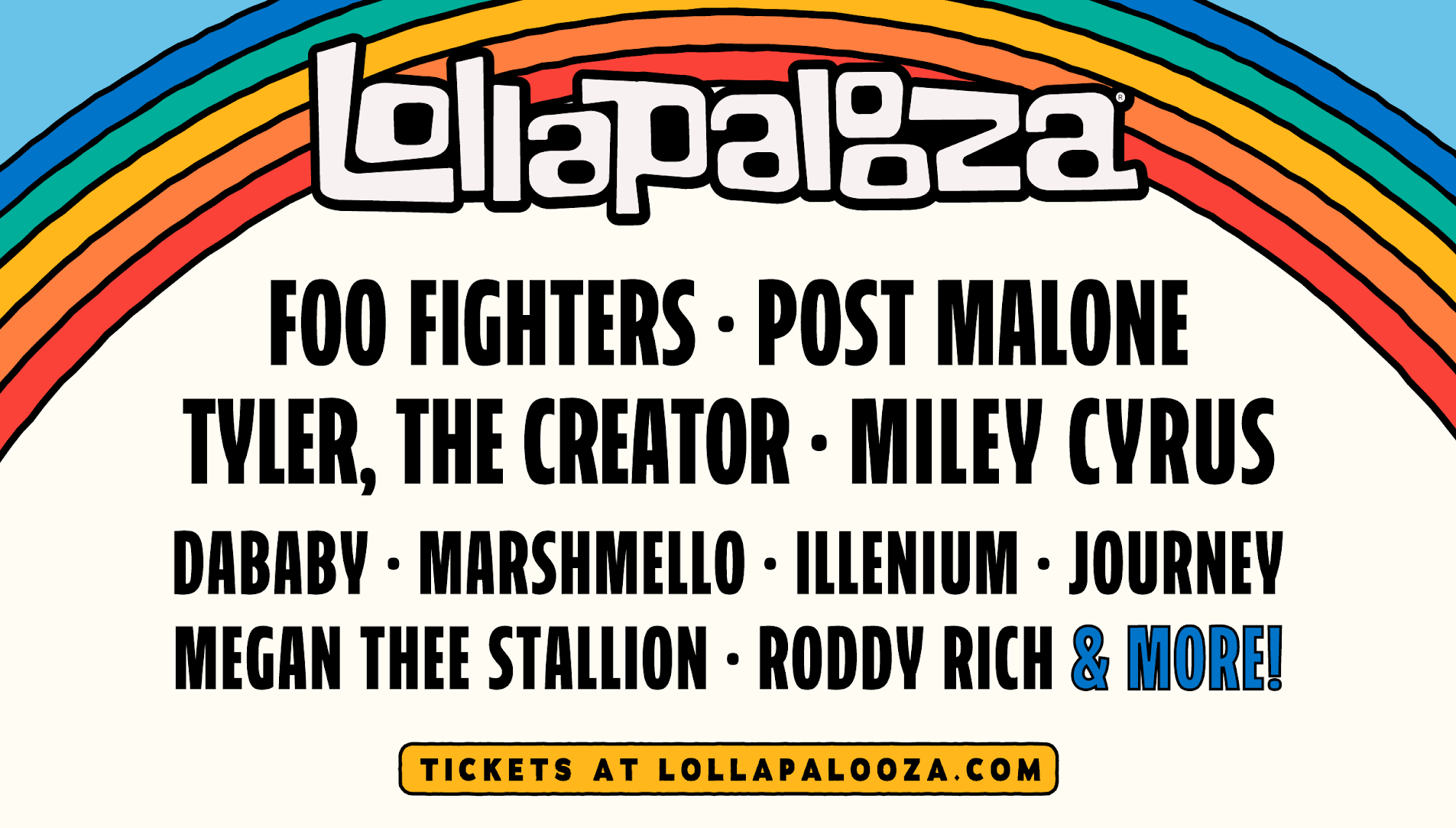 Lollapalooza single-day lineups are here!