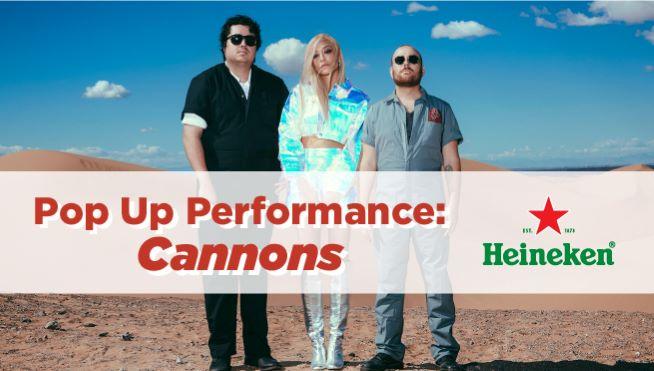 101WKQX Pop Up Performance: Cannons
