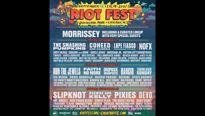 The Riot Fest daily schedules are here!