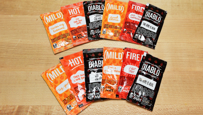 Hang on to those sauce packets!  Taco Bell wants to recycle them, free