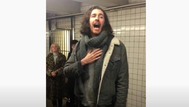 Hozier's acoustic train station serenade