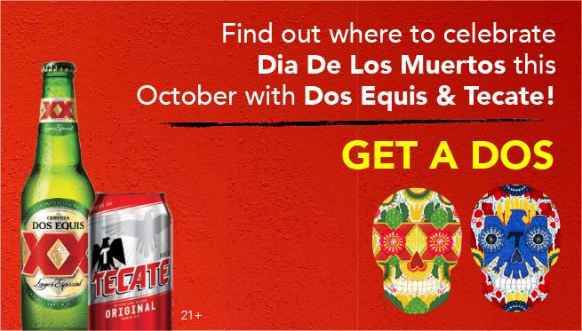 Celebrate Dia De Los Muertos with Dos Equis & Tecate