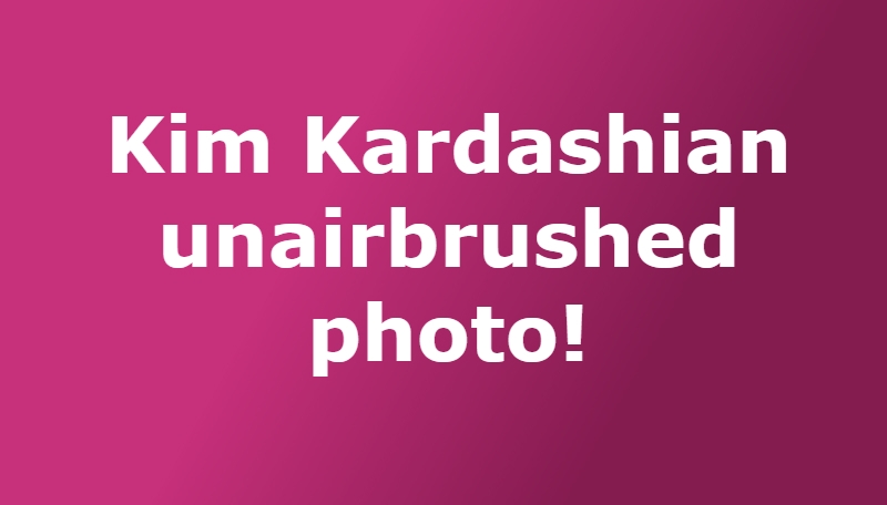Kim Kardashian Claims Unflattering Bikini Pics Were Photoshopped