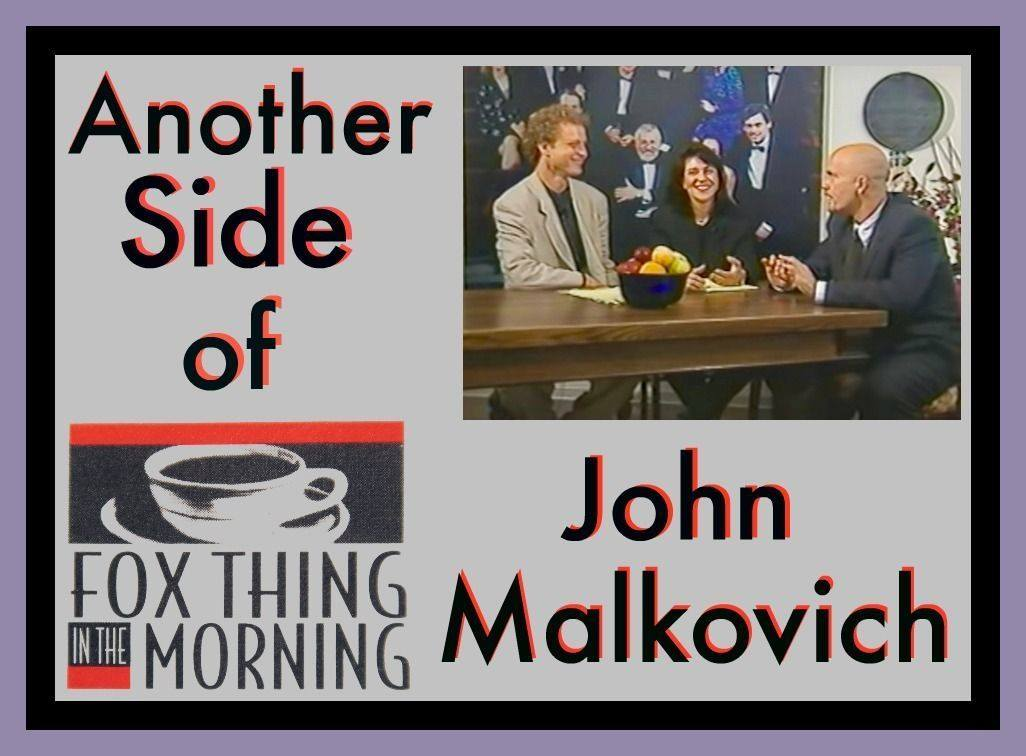 John Malkovich with Bob Sirott and Marianne Murciano