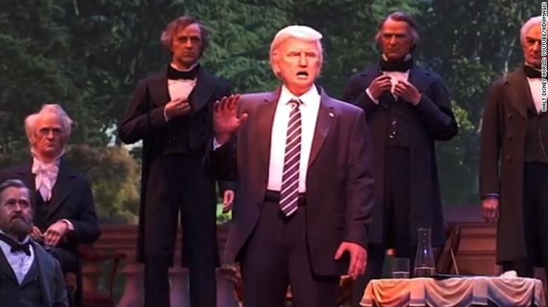 Disney unveils animatronic President Trump