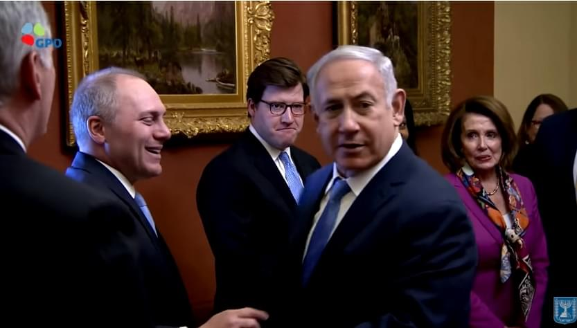 Watch Nancy Pelosi squirm as PM Netanyahu honors Steve Scalise