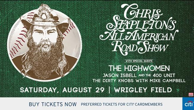 Win tickets to see Chris Stapleton at Wrigley Field!