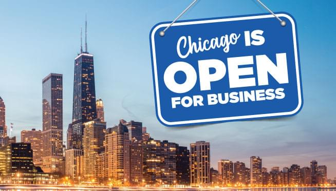 Chicago is open for business