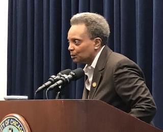 Mayor Lightfoot is defending the police presence on her Logan Sq block when protesters show up