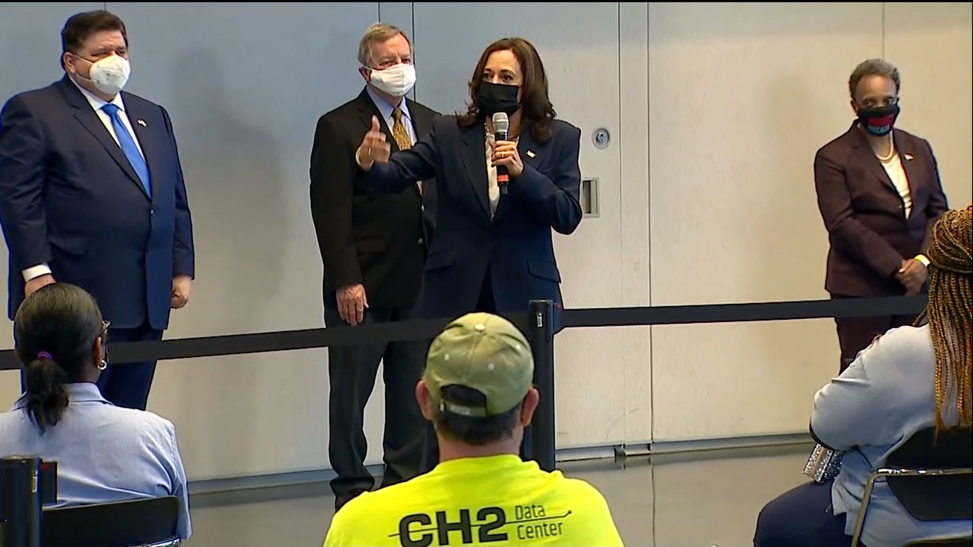 VP Harris makes a brief stop in Chicago