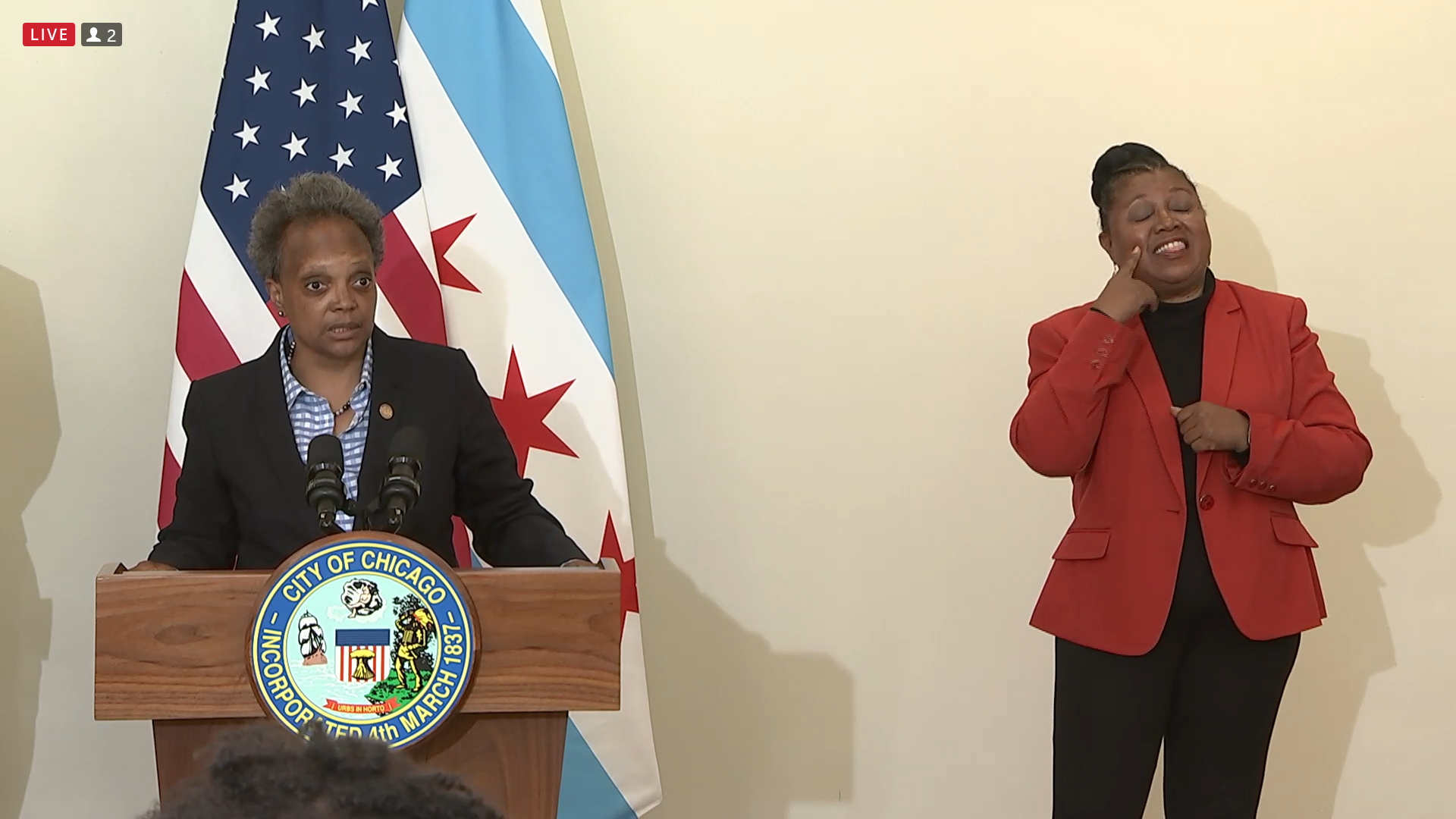 Despite 5 homicides in 50+ weekend shootings, Lightfoot says those stats are trending downward