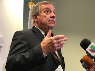 """Durbin asks """"Why are there damn so many guns in Chicago?"""""""