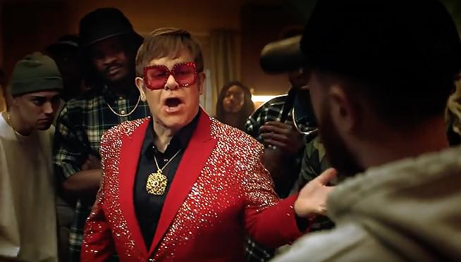 VIDEO: Elton John's in a rap battle in a Snickers ad