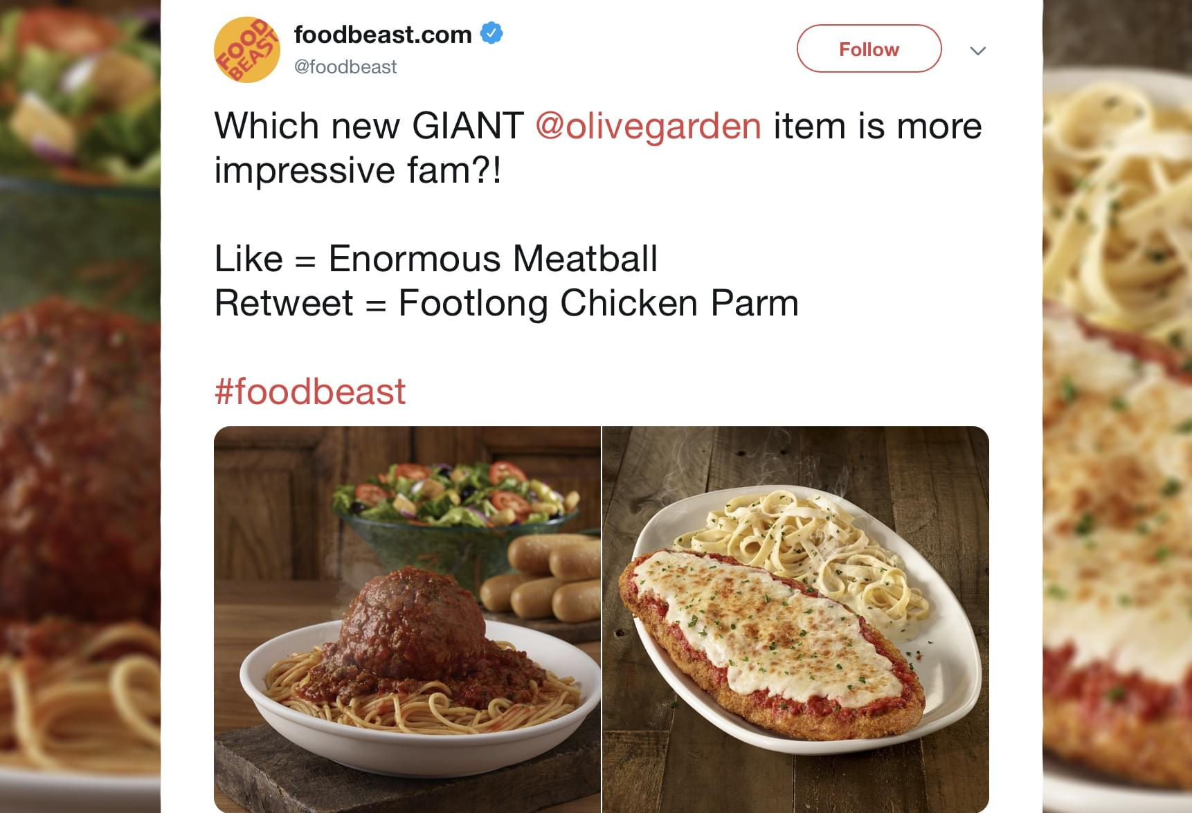 Olive Garden Just Introduced Giant Meatballs And A Footlong Piece Of Chicken Parmesan 94 7 Wls Wls Fm