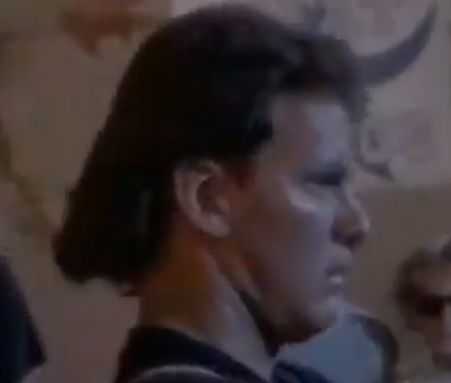 Dave was in a cheesy 80s horror movie. With a mullet. And a pig nose.