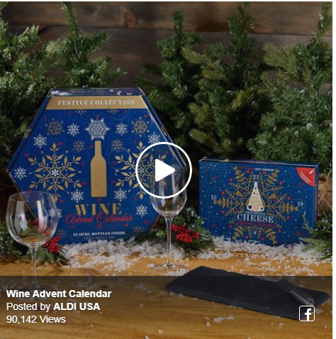 The Aldi Wine Advent Calendar is out this morning!!