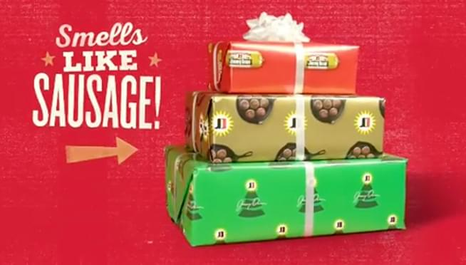 Jimmy Dean is giving away SAUSAGE-SCENTED wrapping paper and sausage-flavored candy canes for Christmas