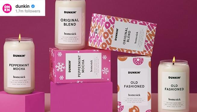 There are now candles that smell like Dunkin' Donuts!