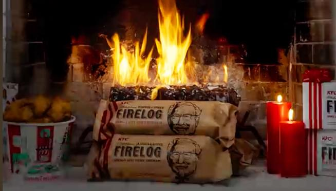 KFC is selling its fried chicken-scented firelog again this year