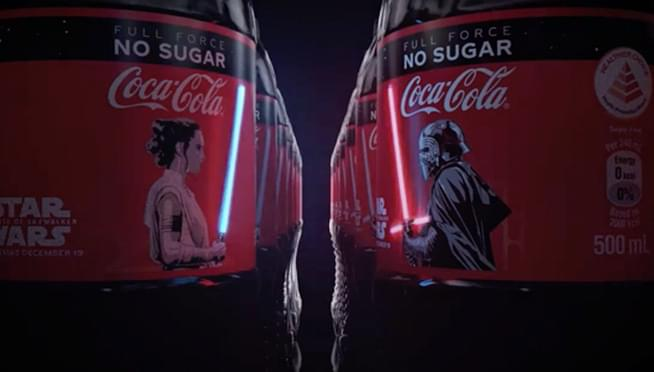 Coca-Cola is selling bottles with lightsabers that light up when you touch them