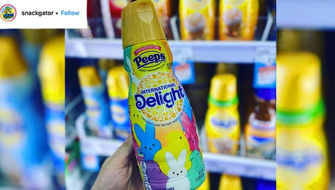 Peeps coffee creamer is getting us ready for Easter… REALLY early