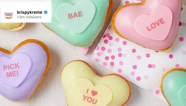 Krispy Kreme releases Valentine's Day 2020 Conversation Heart Doughnuts