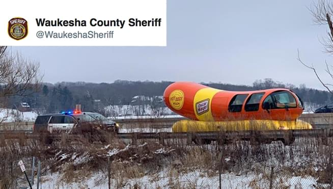 Oscar Meyer Weinermobile pulled over in Wisconsin