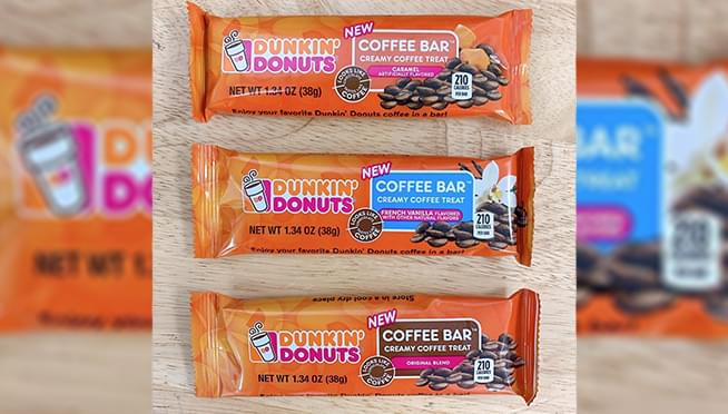Dunkin' is releasing candy bars inspired by coffee flavors