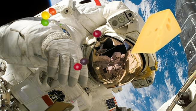 Hungry astronauts are getting a shipment of Candy and Cheese today