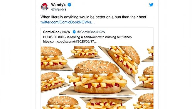 Burger King's ALL-FRY sandwich looks dumb… And Wendy's let them know that