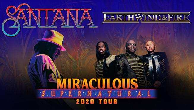 Enter to win tickets to see Santana and Earth, Wind, & Fire!