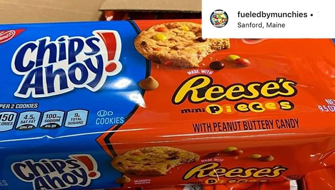 Chips Ahoy! with Reese's Pieces are a thing and I REALLY want to try them
