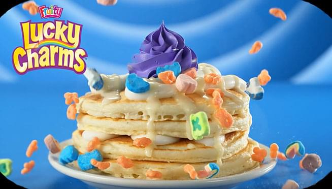 Lucky Charms Pancakes are only $1 on St. Patrick's Day