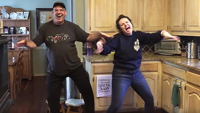 WATCH a father and daughter take the HILARIOUS Quarantine Challenge!