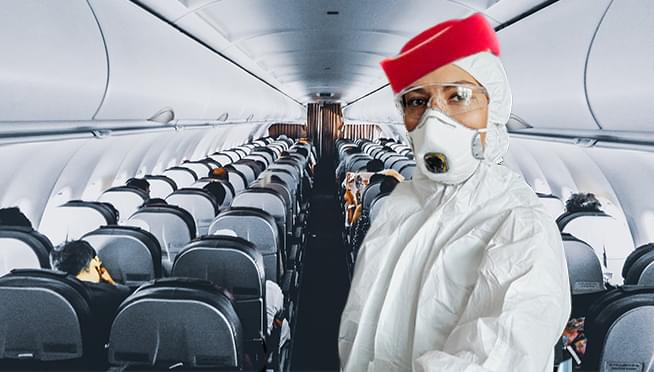 This airline's flight attendants will be wearing HAZMAT SUITS
