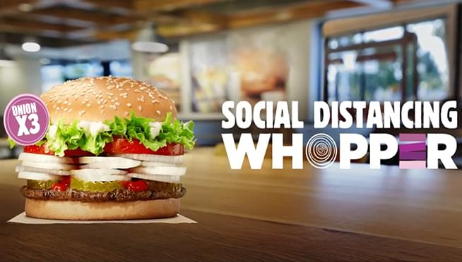 Burger King debuts 'Social Distancing Whopper' with EXTRA onions
