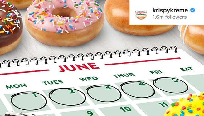 Krispy Kreme is giving away FREE DONUTS for a week