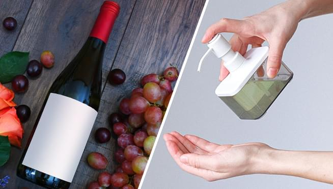 France is turning their wine surplus into hand sanitizer