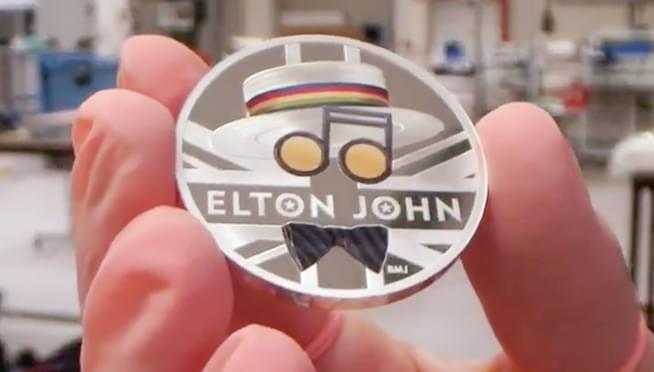 Elton John celebrated on new commemorative coin