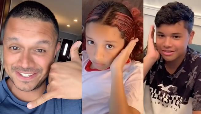 Dad's Tick Toc video shows kids use a different hand gesture for talking on the phone