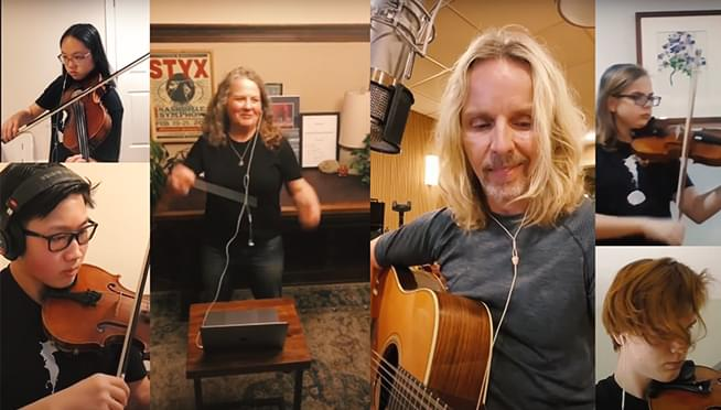 "WATCH Styx's Tommy Shaw perform ""Fooling Yourself"" with the Contemporary Youth Orchestra"