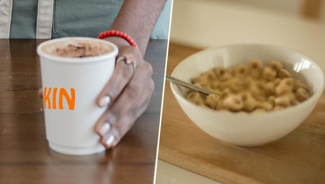 Two new caffeinated cereals that taste like Dunkin' coffee are coming to stores
