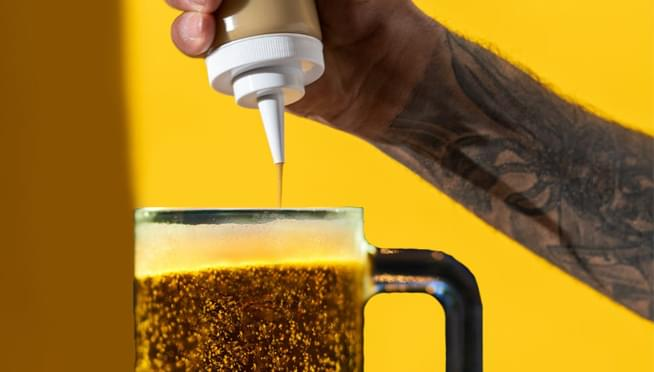 French's Mustard has made Mustard BEER for National Mustard Day