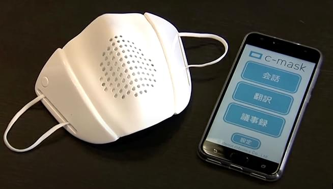 Robotics company makes 'smart face mask' that amplifies voice and translates into 8 languages