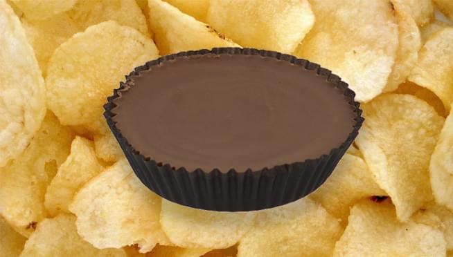 Reese's is launching a brand new peanut butter cup STUFFED WITH POTATO CHIPS