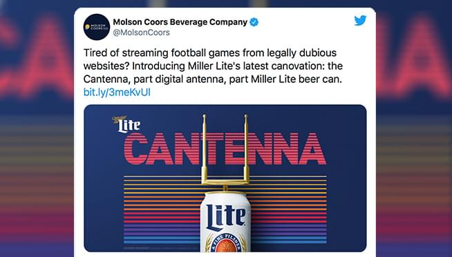 Miller Lite has created a new beer can that's also a TV ANTENNA