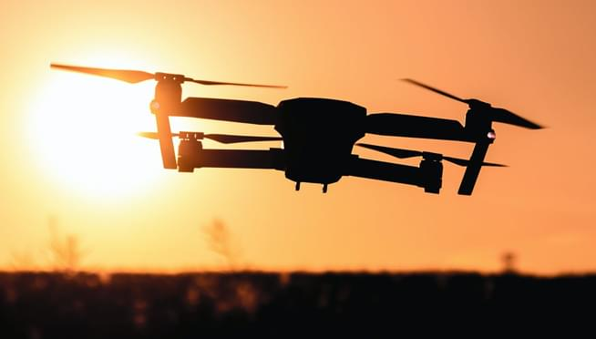 Last night's Cubs game was delayed by a drone that landed in Wrigley Field