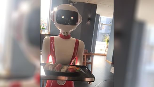 Future of restaurants?  This restaurant is using a robot waitress!
