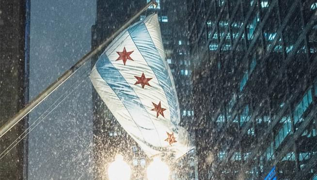 Chicagoland saw its first snow this morning